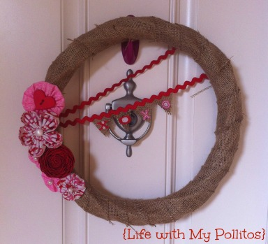 Burlap Valentine's Day Wreath